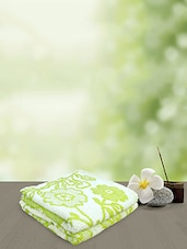Yellow Spun Green Jacquard Sundsvall Hand Towels -  online shopping for towels