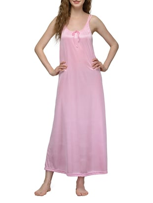 pink satin nighty