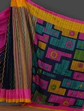 Multicolored Printed Art Silk Saree - Rajesh Silk Mills