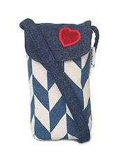 blue and white canvas pouch -  online shopping for Pouches