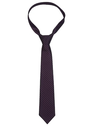 purple  polyester tie - 11294681 - Standard Image - 2