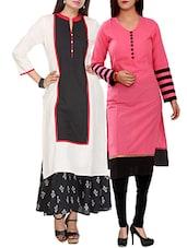 White Rayon Cotton Kurta - By