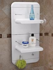 White ABS Plastic Bathmate Corner Unit   Online Shopping For Bath  Accessories