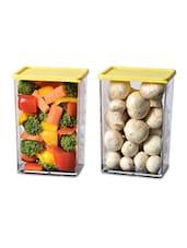 Plastic Transparent Container Set Of 2 - Disha