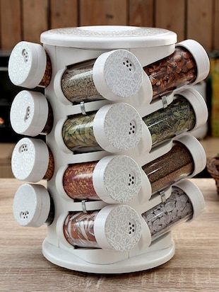 Printed Spice Tower Set of Sixteen