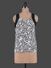Animal Printed Sleeveless Crepe Top - Aussehen