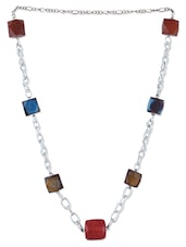 Multicolour Metallic Beads Necklace - By