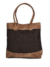Brown Jute Handbag - Hotberries