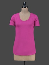 Round Neck Short Sleeves Solid Top - Vrtya