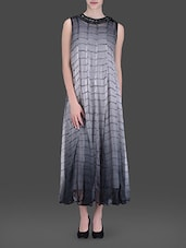 Grey Embellished Maxi Dress - LABEL Ritu Kumar