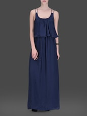 Navy Blue Strappy Maxi Dress - LABEL Ritu Kumar