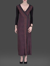 Maroon Printed Maxi Dress - LABEL Ritu Kumar