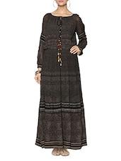 Black Viscose Maxi Dress - LABEL Ritu Kumar