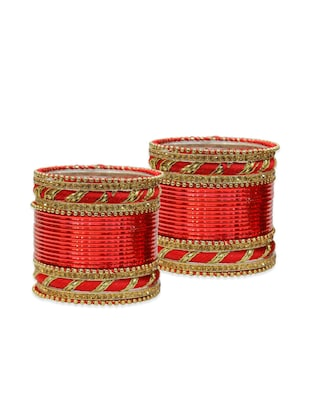 red  color, metallic alloy bangles