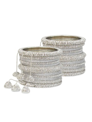 silver color, metal alloy bangles