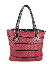 Textured Leatherette Hand Bag - Jimmy Octan