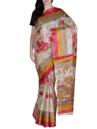 multi colored silk saree