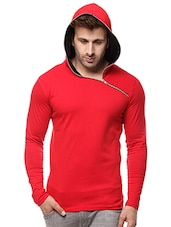 solid red cotton sweatshirt -  online shopping for Sweatshirts