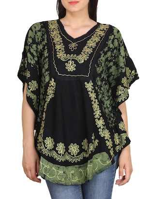 green color, rayon kaftan top