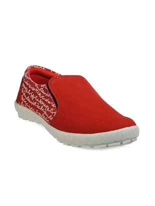 Red Canvas casual slipon