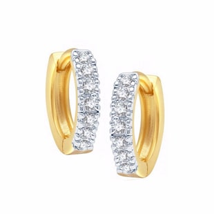 white gold plated bali earring - 11343249 - Standard Image - 2