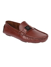 brown leatherette loafer -  online shopping for Loafers