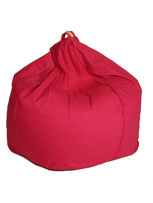 solid pink cotton bean bag