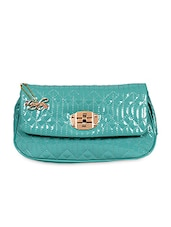 Sea Green Leatherette Sling Bag - Lengloy