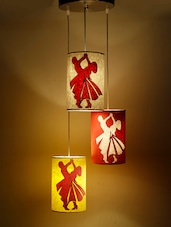 Multicoloured Dancing Lovers Hanging Lamp - Craftter
