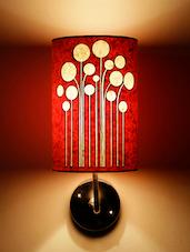 Orange Printed Handmade Wall Lamp - Craftter