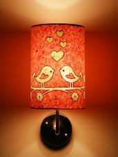 Pink Love Birds Wall Lamp - Craftter