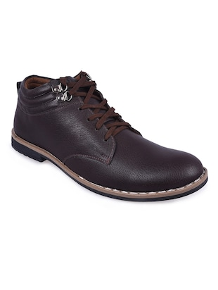 brown Leather lace up derby