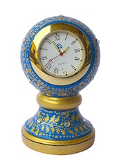 Dekor World Hand Painted Round Marble Clock - By