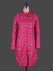 Floral Printed Full Sleeve Pink Kurta - JUNIPER Fruit Of Fashion