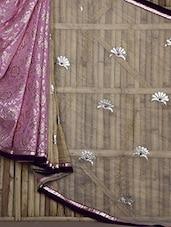 Floral Pattern Half & Half Saree - Jaipur Fashions