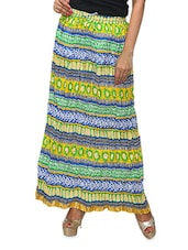 Multicoloured Printed Cotton Long Skirt - KIFA