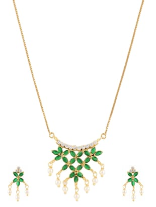 green gold plated pendant