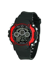 black red color, digital sports watch -  online shopping for Sports Watches