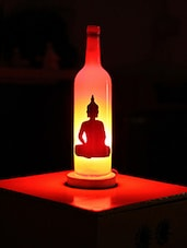 Buddha Silhouette Printed Bottle Lamp - Kavi The Poetry Art Project