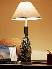 Birds & Vine Painted Bottle Table Lamp - Kavi The Poetry Art Project