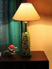 Smiley Faces Painted Bottle Table Lamp - Kavi The Poetry Art Project