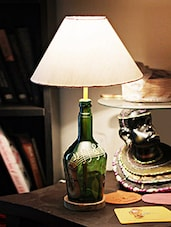 Saxophone Painted Bottle Table Lamp - Kavi The Poetry Art Project