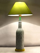 Pebbles Embellished Glass Bottle Table Lamp - Kavi The Poetry Art Project