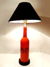 Owl Printed Glass Bottle Table Lamp - Kavi The Poetry Art Project