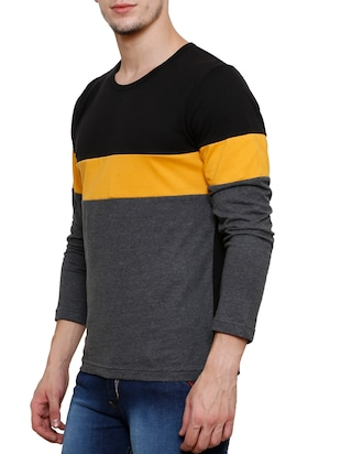 colour block cotton t-shirt - 11379667 - Standard Image - 2