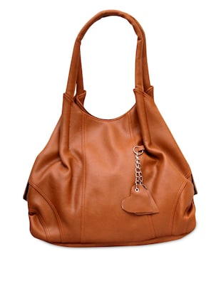Tan leatherette handbag