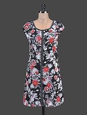 Floral Printed Mega Sleeve Shift Dress - Ayaany