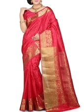red art silk saree -  online shopping for Sarees