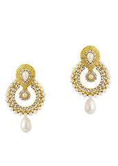 Golden Copper Drop Earring - By