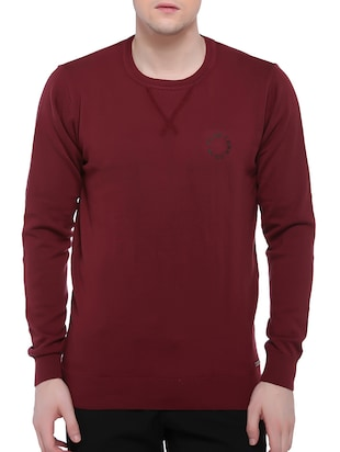 red cotton pullover